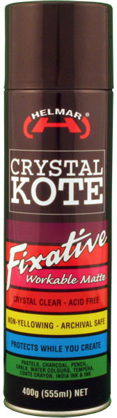 HELMAR Crystal Kote Fixative Spray 14.11 oz.